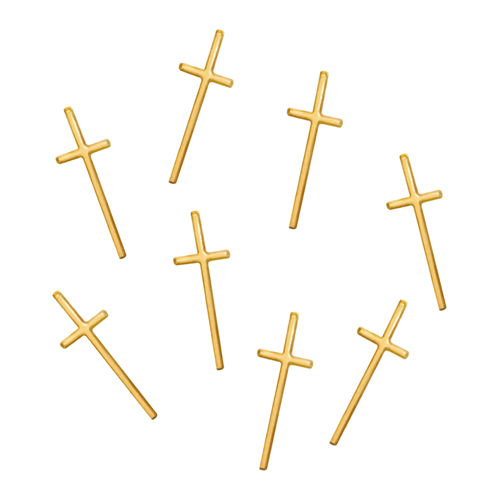 thin cross -gold- 8P